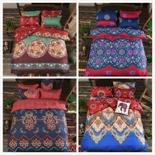 Ethnic Printed Pillowcase Quilt Duvet Cover Single Queen King Size Bed Set T