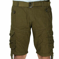 Greentree Boys Cotton Shorts 6 Pocket Kids Cargo Olive Green Shorts MASR60