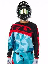 Fly Racing Teal-Black-Red 2017 Kinetic Crux MX Jersey