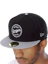 New Era Black-Grey New York Yankees Emblem Round Pitch Fitted Cap