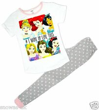 Womens Disney Princess Belle Snow White Ariel Long Pyjamas Plus Sizes 8 to 22