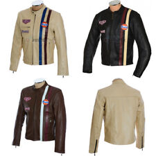 Original Steve McQueen LeMAN Goodwood Revival Soft Leather Jacket in 3 Colours