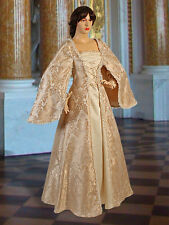 Medieval Renaissance Maiden Dress Gown , Handmade from Brocade