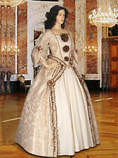 Medieval or Renaissance Baroque Dress Gown Ensemble including Bodice Underskirt