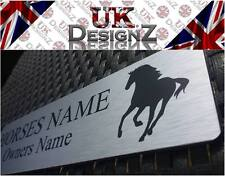 STABLE DOOR NAME PLATE - HORSE/PONY PERSONALISED NAME PLATE - PLAQUE - SIGN.