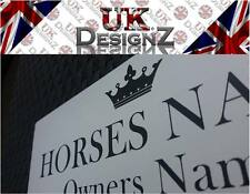 HORSE/PONY PERSONALISED NAME PLATE - PLAQUE - BESPOKE STABLE DOOR NAME PLATE.