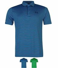 SPORT Under Armour Coolback Stripe Golf Polo Shirt Mens Green