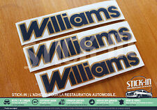 Renault Clio Williams Phase1 OU 2 Autocollants Stickers Monogrammes IDEM ORIGINE