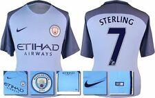 *16 / 17 - NIKE ; MAN CITY HOME SHIRT SS / STERLING 7 = KIDS SIZE*