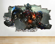 H096 Transformers Smashed Optimus Wall Decal Poster 3D Art Stickers Vinyl Room