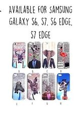 Samsung Galaxy S6 S7 Edge Téléphone Housse Coque Funky Animaux Mignons Cerf