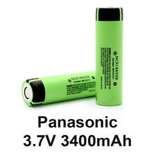 Panasonic NCR18650B 3.6V 3400mAh Rechargeable  Batteries Flat Top ,,/,.//
