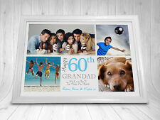 Personalised Birthday Gift Photo Montage Print 1st 18th 21st 30th 40th 50th 60th