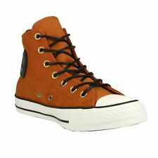 Converse Chuck Taylor All Star Leather Hi Schuhe High-Top Sneaker Braun 153807C