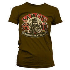 SONS OF ANARCHY MEN OF MAYHEM camiseta mujer girlie-shirt official license