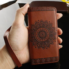 Retro Pattern Leather Flip Card Slot Wallet Cover Case For Various Mobile Phones