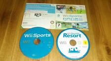 Wii Sports Resort 12 sports and SPORTS 5  (Nintendo Wii, 2009) CARD SLEEVE