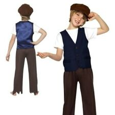 Victorian Poor Peasant Boy Boys Book Week Fancy Dress Costume 4-12 Years