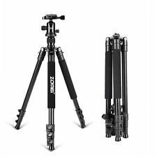 ZOMEI Adjustable Lightweight Aluminum Alloy Q555 Camera Tripod with Ball Head an