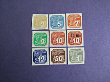 WWII NAZI GERMANY 1940s:CZECH OCCUPATION BOHEMIA &MORAVIA IMPERF SET OF 9 MNH OG