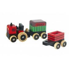 Brand New First Wooden Toy Farm Vehicles - Tractor & Trailers