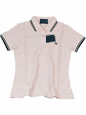 Fred Perry Damen Polo Rosa / Navy Made in England J5801 417 #6086