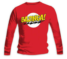 The Big Bang Theory Longsleeve Shirt Bazinga! Sonderpreis! - Langarmshirt, rot..