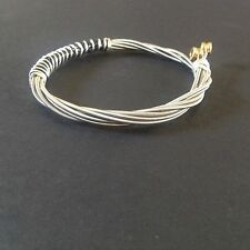 Handmade Recycled Bass Guitar String bracelet/ Bangle
