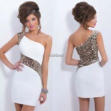 Women Ladies Summer Sequins Bodycon Lace Evening Party Sexy Cocktail Mini Dress