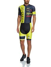 (TG. Large) Jolly Wear, Tuta estiva da ciclismo Unisex adulto Week, Giallo (Gelb