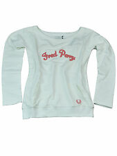 Fred Perry Damen Longsleeve Pullover Weiß / Pink G4806 100 #6108