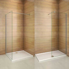 Walk In Tall Shower Screen Panel Wet Room Enclosure Cubicle 8mm NANO Clean Glass