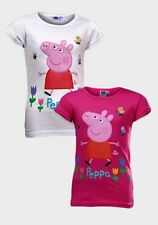 Official Licensed Peppa Pig T-Shirt Pink or White ages 2,3,4,5 or 6 years