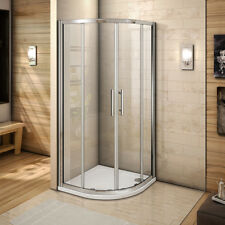 Walk in offset quadrant / corner entry shower enclosure 6mm glass screen cubicle