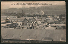 AK Lyon, Exposition Internationale 1914, Rue de Nancy, Grand Hall et Le Village