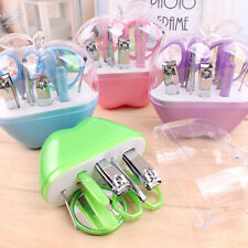 Nail Care Cutter Cuticle Clipper Pedicure Manicure Kit 9 pcs Apple Gift Case Set