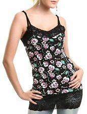 CUPCAKE CULT CUTE KAWAII CHERRY SKULL BONE FLY TOP LACE CAMISOLE 8-14 NEW GOTH