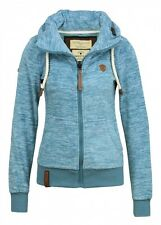 Naketano Ladies Fleece Jacket Freedom of speech? II Light Blue Melange