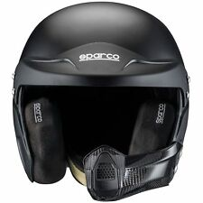 Sparco Car Racing/Race Air Pro RJ-5i Fibreglass Crash Helmet/Lid - Matt Black