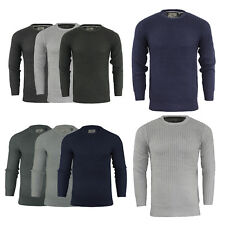 Mens Brave Soul Fishermans Jumper Sweater Chunky Crew Neck Pullover Sizes S - XL