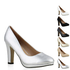 Klassische Damen Pumps Business High Heels Schuhe 813582 New Look