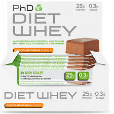 PhD Nutrition Diet Whey Bar (12 X 50g) High protein Meal Replacement Weight Loss