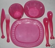 Sweet Pink colour IKEA plastic dining set for children