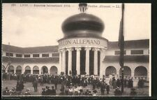 alte AK Lyon, Exposition Internationale 1914, Ausstellung, Pavillon Allemand