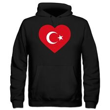 Turkey Heart Flag Kinder Kapuzenpulli