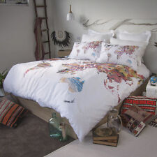 Vintage maps uk europe old map world globe duvet cover set retro home world map australia quilt doona cover set single double queen king gumiabroncs Image collections