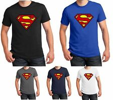 Superman T Shirt Superhero Fancy Dress DC Comics Men Women Kids Gift Top S-5XL