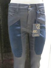 JEANS PANTALONI TROUSERS JECKERSON DONNA PA92TT17162 BLU CORVINO SLIM FIT PATCH