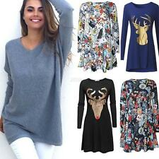Autumn Jumper Women Casual Long Sleeve Knitted Pullover Sweater Tops Knitwear
