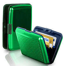 ATM Debit Credit Card Holder Aluminium Set of 4 Green Color Stylish Wallet
